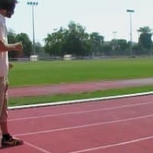 How to run 100 meters blind